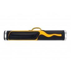 Billiard Cue Hard Case Expert II EX2-1, black-yellow-red, 2/4, 85cm